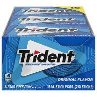 Trident Original Flavor Sugar-Free Gum (14 pc./pk., 15 pk.)