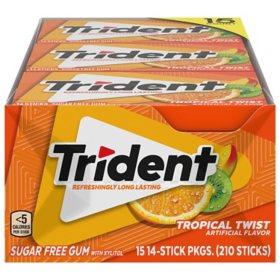 Trident Tropical Twist Sugar-Free Gum (14 ct., 15 pks.)
