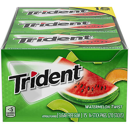 Trident Watermelon Twist Sugar Free Gum (15 pk.)