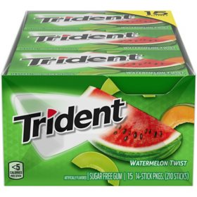 Trident Watermelon Twist Sugar Free Gum (14 pieces, 14 pk.)