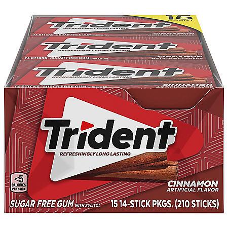 Trident Cinnamon Sugar Free Gum (14 pieces, 15 pk.)