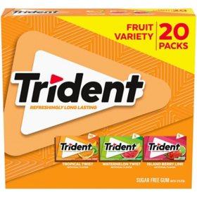 Trident Fruit Variety Pack (14 per pk., 20 pk.)