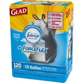 Glad ForceFlex Odor Shield Trash Bags -120 ct. - 13 gal.