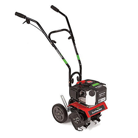 Earthquake Mini Cultivator Tiller with 43cc 2-Cycle Viper Engine - Includes Dethatcher