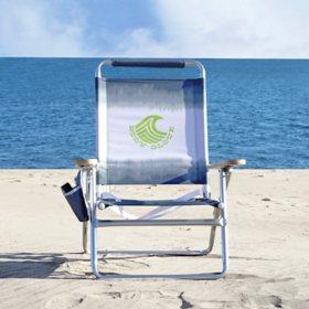Body Glove 4-Position Wood Arm Beach Chair