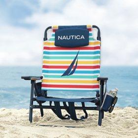 Nautica Beach Chair 2-Pack, Rainbow