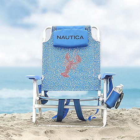 Nautica Beach Chair 2-Pack, Lobster Tile