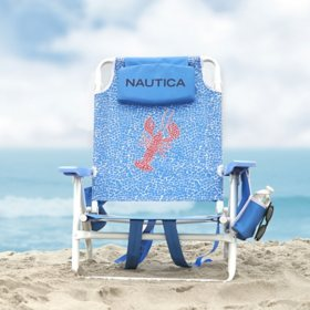 Nautica Beach Chair 2-Pack, Lobster Tile