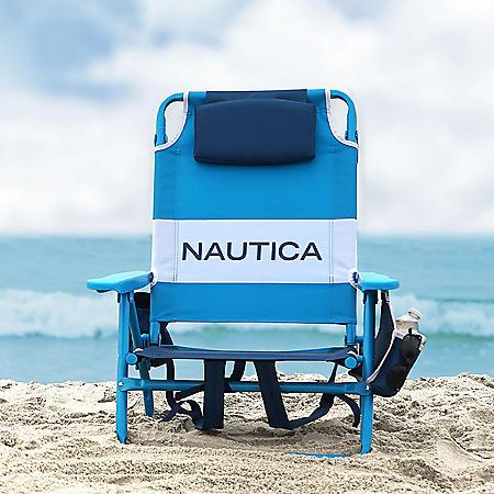 Nautica Beach Chair 2-Pack, Blue Tonal