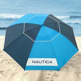 Nautica Beach Umbrella, Blue Tonal