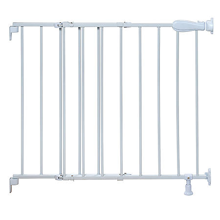 Summer Infant Slide & Lock Top of Stairs Metal Gate - White