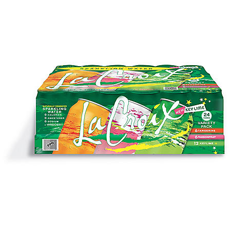 LaCroix Sparkling Water Key Lime Variety Pack (12oz / 24pk)