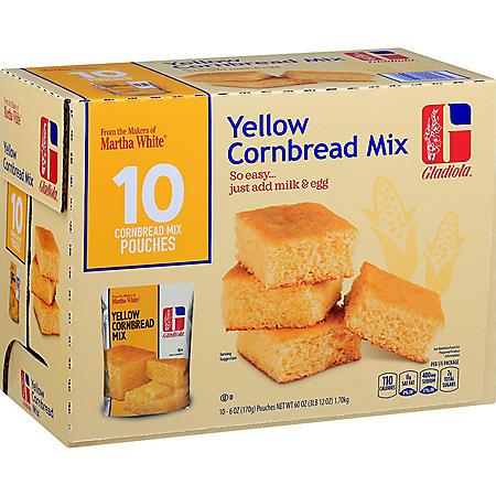 Gladiola Yellow Cornbread Mix (6 oz., 10 pk.)
