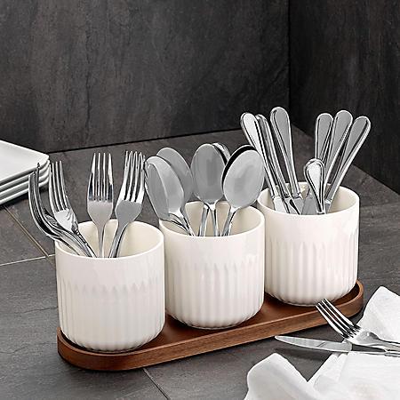 Overandback Porcelain Utensil Crock Set
