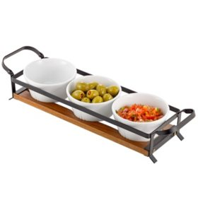 Over and Back 4-Piece Rustic Condiment Serve Set