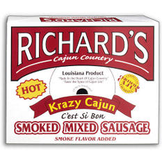 Richard's Hot Krazy Cajun Smoked Sausage (4 lb.)