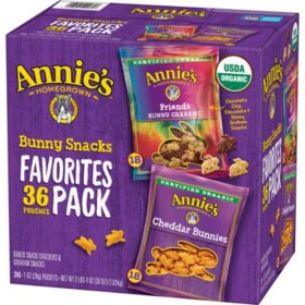 Annie's Favorite Bunny Snacks Variety Pack (1 oz., 36 ct.)