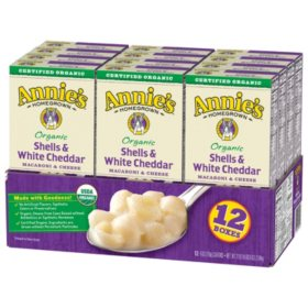 Annie's Organic Shells and White Cheddar Macaroni and Cheese (12 pk.)