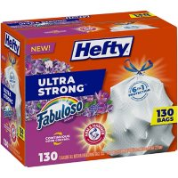 Hefty Ultra Strong 13-Gallon Kitchen Drawstring Trash Bags, Fabuloso Scent (130 ct.)