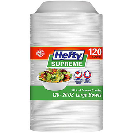 Hefty Supreme Foam Bowls (20 oz., 120 ct.)