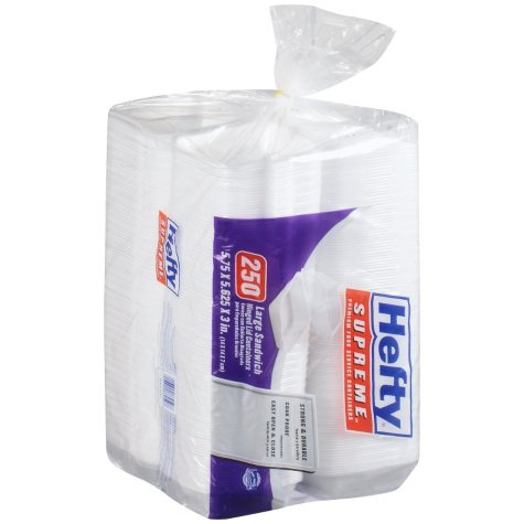Hefty Foam Hinged 1 Compartment Togo Boxes (250 ct.)