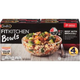 Stouffer's Fit Kitchen Bowls, Beef with Broccoli (4 pk.)