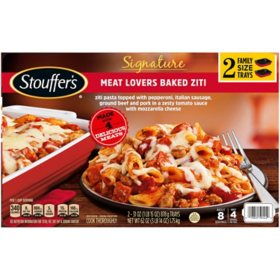 Stouffer's Signature Meat Lovers Baked Ziti, Frozen (31 oz. trays, 2 pk.)