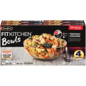 Stouffer's Fit Kitchen Bowls, Teriyaki Chicken (4 pk.)
