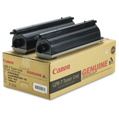 Canon GPR-7 Toner Cartridge, Black - 2 Pack (36,600 Yield)