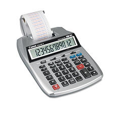Canon - P23-DHV 12-Digit Two-Color Printing Calculator, 12-Digit LCD - Purple/Red