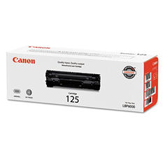 Canon 125 Toner Cartridge, Black (1,600 Yield)