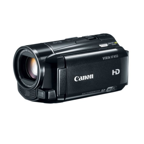 Canon HF M50 Full HD Camcorder with 10x Optical Zoom and 8GB Internal Memory