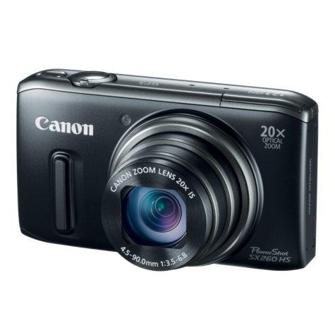 Canon SX260 12.1MP Digital Camera with 20x Optical Zoom - Black