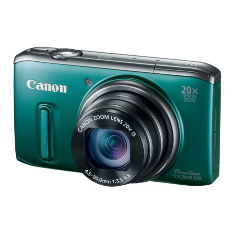 Canon SX260 12.1MP Digital Camera with 20x Optical Zoom - Green