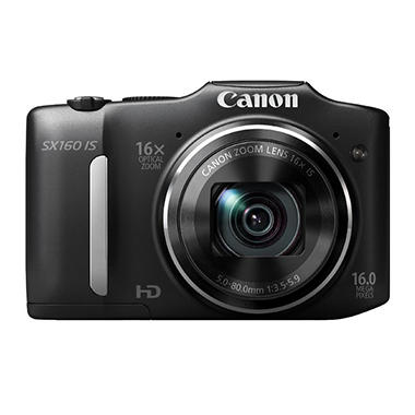Canon SX160 16MP Digital Camera with 16x Optical Zoom
