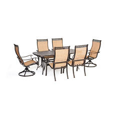 Manor 7-Piece Outdoor Dining Set with Two Swivel Rockers