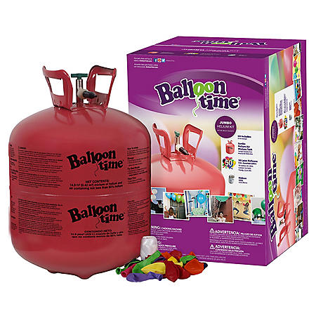 Balloon Time Jumbo Helium Kit (50 Balloons)