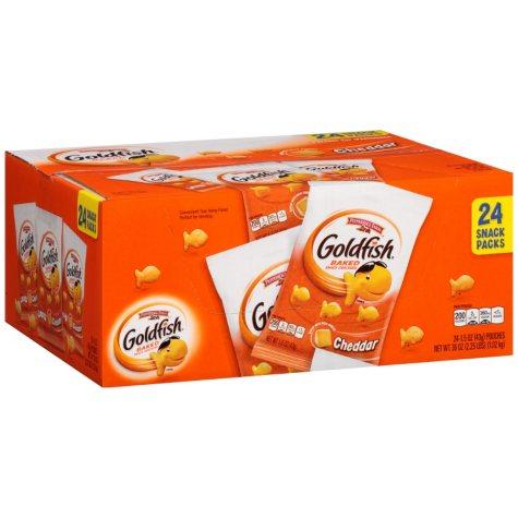 Pepperidge Farm Goldfish Cheddar Baked Snack Crackers (1.5 oz., 24 ct.)
