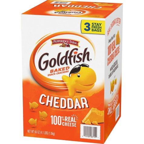 Pepperidge Farm Goldfish Cheddar Baked Snack Crackers (66 oz., 3 ct.)
