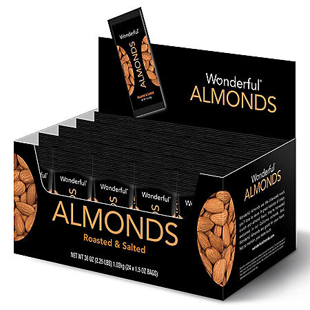 Wonderful Almonds, Roasted & Salted (1.5 oz., 24 ct.)