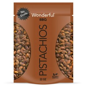 Wonderful Pistachios, No Shells, Barbeque Flavored Nuts (22 oz.)