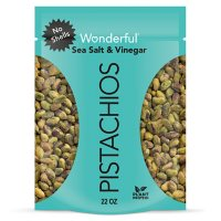 Wonderful Pistachios, No Shells, Sea Salt & Vinegar Flavored Nuts (22 oz.)