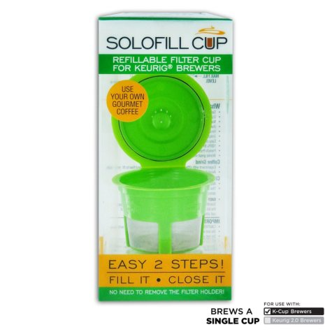 Solo-fill Reusable & Refillable Single Serve Cup for Keurig  Brewers