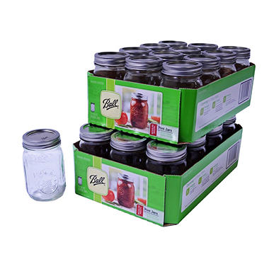 Ball Regular Mouth Jars - 16 oz. - 24 pk.