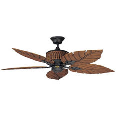 Concord by Luminance 52 in. Fernleaf Breeze Damp Location Ceiling Fan (Rustic Iron)