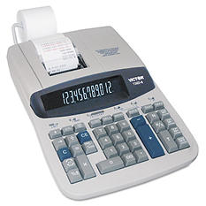 Victor 12-Digit Two Color Printing Calculator