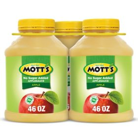 Mott's Unsweetened Applesauce (46 oz., 3 ct.)