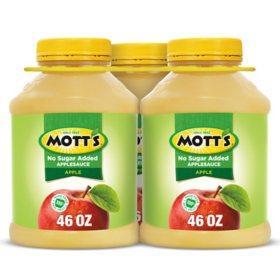 Mott's No Sugar Added Applesauce (46 oz. jars, 3 pk.)