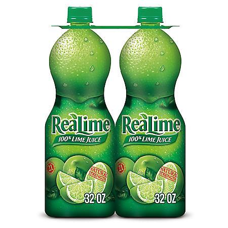 ReaLime 100% Lime Juice (32 oz., 2 pk.)
