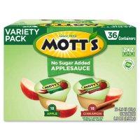 Mott's No Sugar Added Applesauce Variety Pack (3.9 oz cups, 36 pk.)